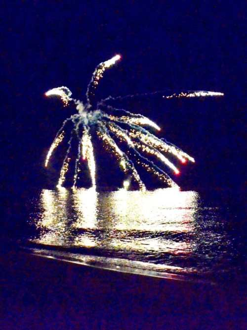Fireworks on Lake Michigan