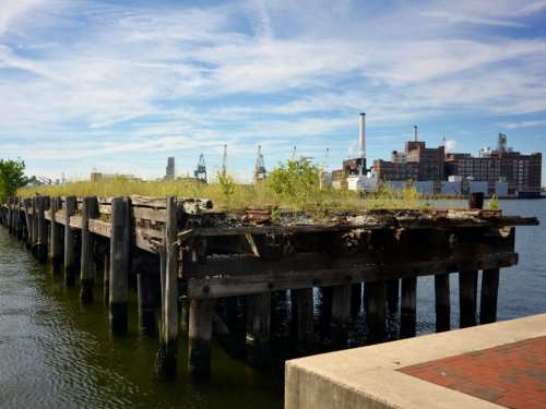 abandoned dock in Baltimore