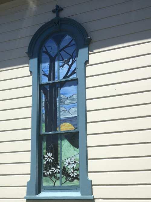 Charming Church Window Half Moon Bay