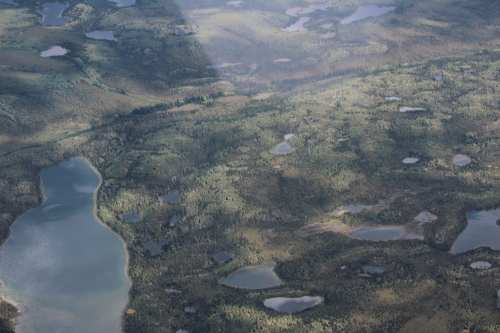 Kettle ponds and a lake
