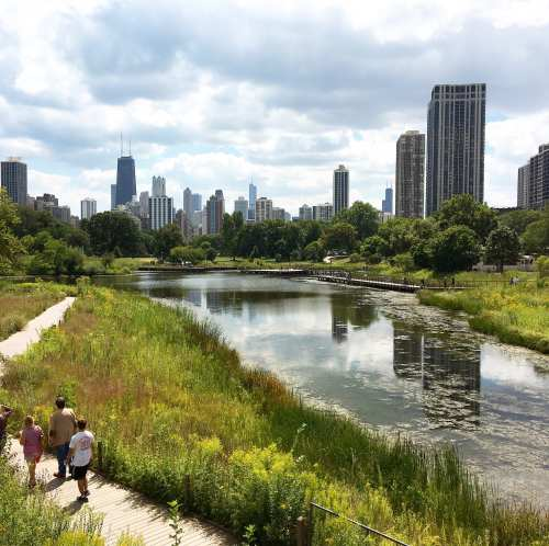 Chicago from Lincoln Park Zoo