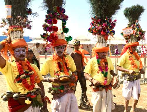 Rathva tribal members at the Kavant Fair