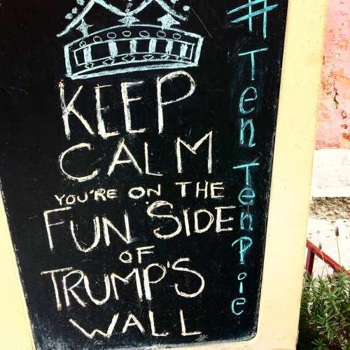 Sign at a restaurant San Miguel de Allende