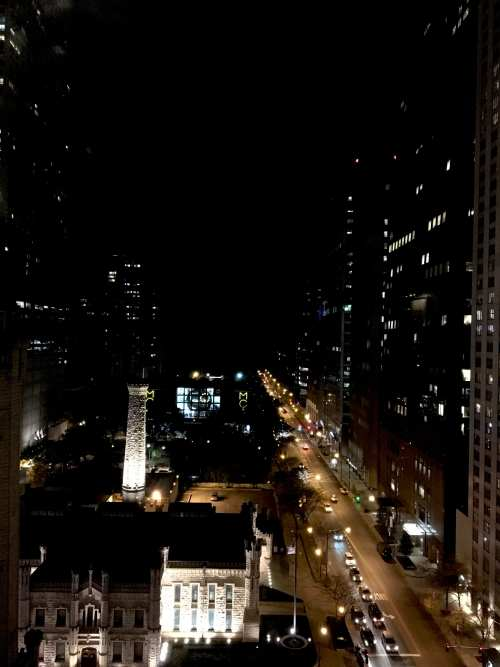 I love the night time view of Chicago from hotel