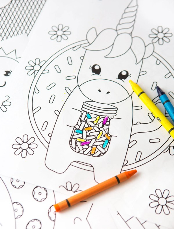 printable unicorn coloring pages # 20