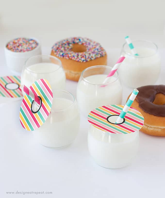 Download these Donut Printable Drink Toppers for a fun DIY party idea! Find the free printables at Design Eat Repeat