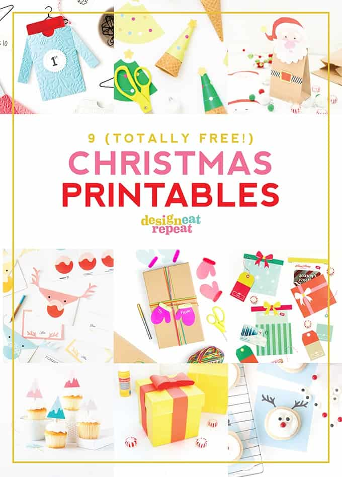 Spruce up your holiday gifts, cookie trays, and treats with these free Christmas printables! Totally adorable and easy to put together!