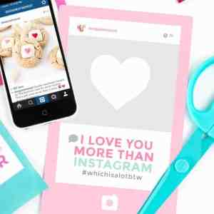 Instagram Themed Printable Valentine's Day Cards
