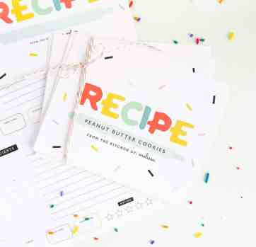 Free Printable Recipe Cards (+ Gift Idea!)