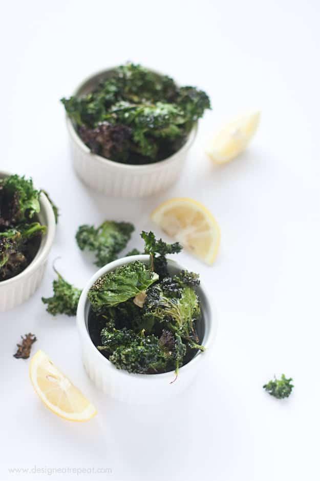 Garlic & Lemon Kale Chips