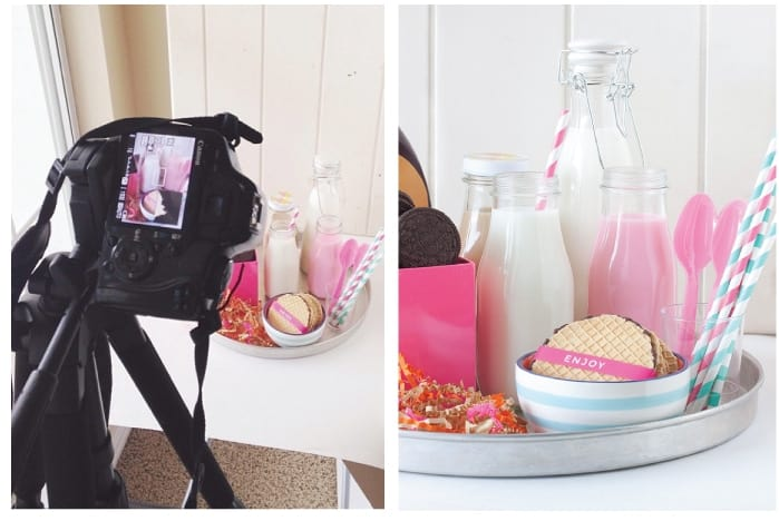 Get a behind-the-scenes look into a blogger's photo set up! This article includes tips and tools from food and DIY blogger, Melissa at Design Eat Repeat. She talks about everything from cameras, backdrops, and editing software. Very helpful!