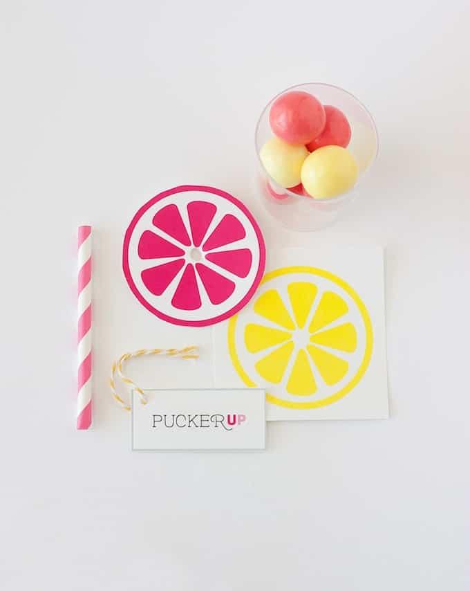 Lemonade Gumball Party Favors   by Design Eat Repeat