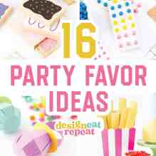 16 Party Favor Ideas