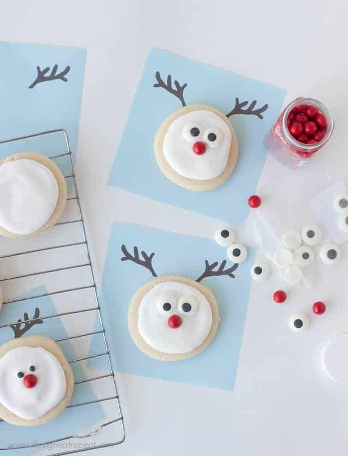 Reindeer Sugar Cookie Printable | A Christmas Cookie Decorating Idea