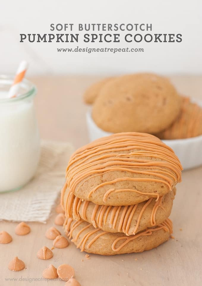 Soft Butterscotch Pumpkin Spice Cookies