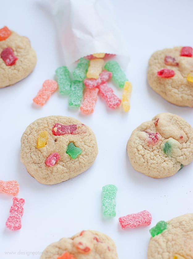 Sour Patch Kids Candy Cookies from Design Eat Repeat