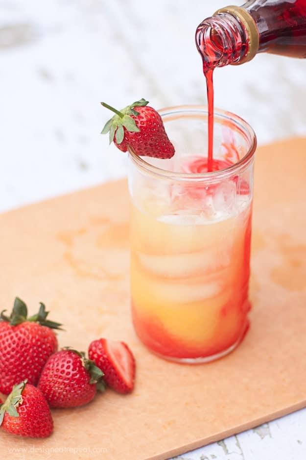 Summer Spritzer | Use Orange Juice, Lemon-Lime Soda, and Grenadine | Design Eat Repeat