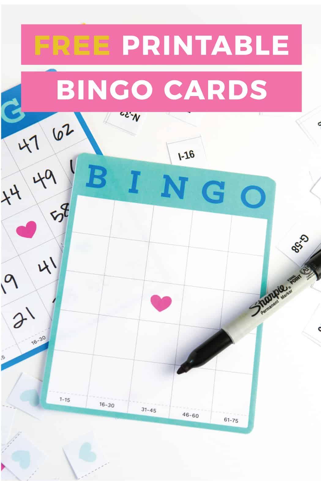 Free Printable Blank Bingo Cards