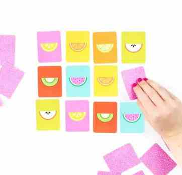 Fruit Slice Printable Memory Game