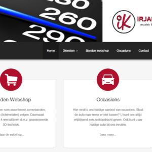 Garagebedrijf Irjan Knol website