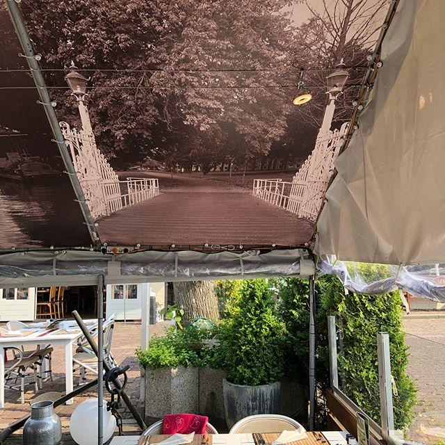 Restaurant d'Artiest plafonddoek toegangshek