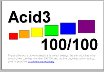 Safari for PC Acid3 Test Results