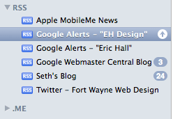 Google Alerts in Mail Program