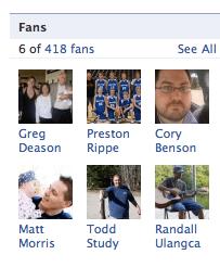 List of Blackhawk Ministries Facebook Fan List
