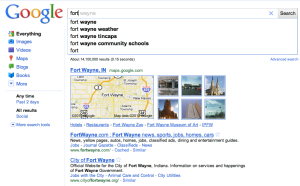 Google Search Results for FORT