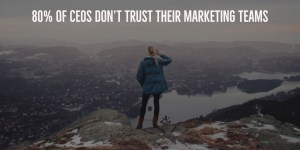 Marketing isn't trusted by CEOs