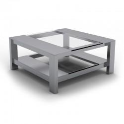 table basse inox carree tosco a prix d usine designement