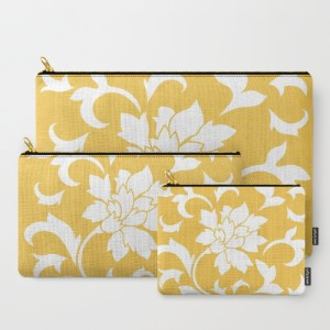 oriental-flower-mustard-yellow-carry-all-pouches