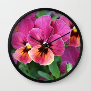 pink-pansy-flower-nl5-wall-clocks