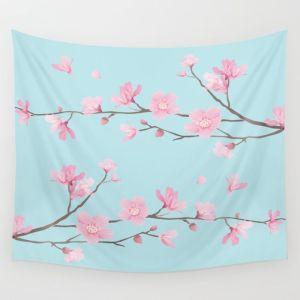 square-cherry-blossom-sky-blue-tapestries