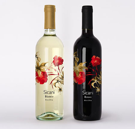 sicani wine packaging