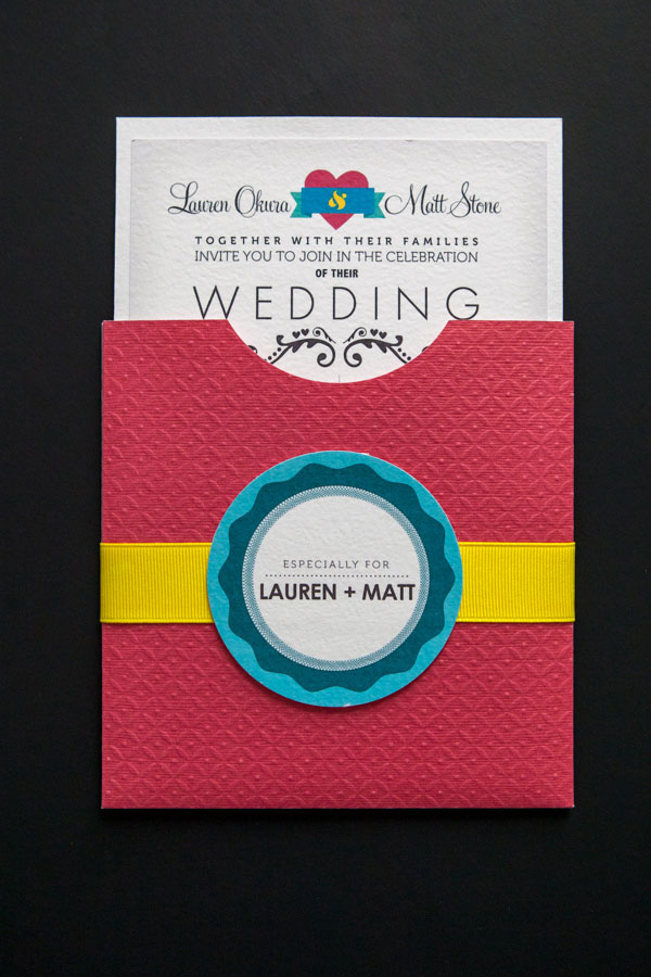 CMYK Themed Wedding Invitations & More