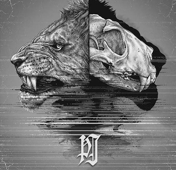 -misterioso-horripilante-gótico en blanco y negro de animales-cráneo-art-paul-jackson-11-2