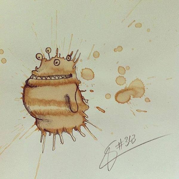 coffee-mancha-Doodle-monstruos-coffeemonsters-stefan-kuhnigk44