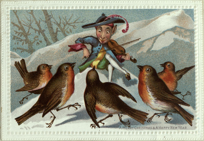 These Victorian Era Christmas Cards Were Dark And Funny