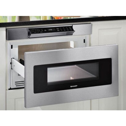 sharp smd2470asy 24 hidden controls flushmount microwave drawer stainless steel