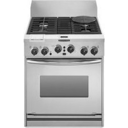 KitchenAid Architect Series KDRP707RSS 30 Pro Style Dual Fuel Range Stainless Steel