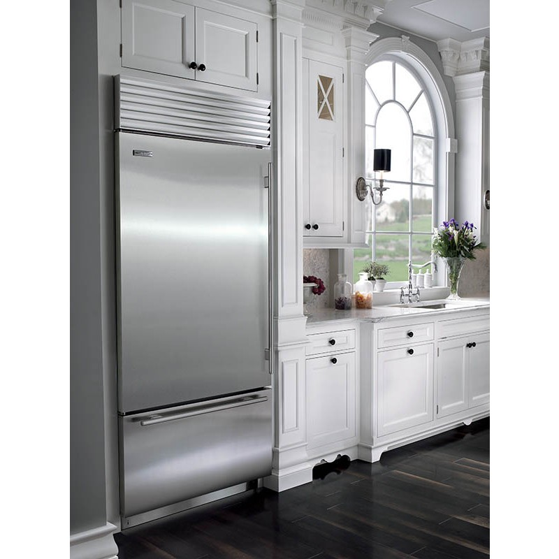 Subzero BI 36USTH 36 Stainless Steel Built In Over And Under Refrigerator Tubular Handle