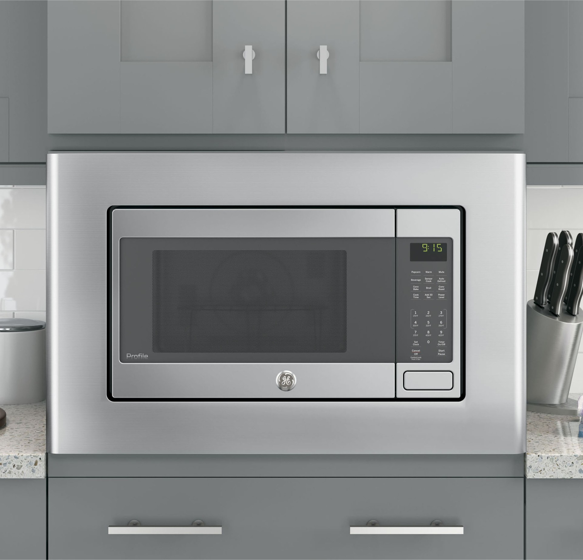 ge profile peb9159sjss 1 5 cu ft microwave 1000 watts convection built in or countertop