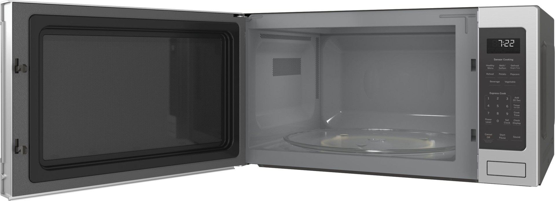 PES7227SLSS GE Profile 24 Countertop 22 Cu Ft 1100 W Microwave Stainless Steel