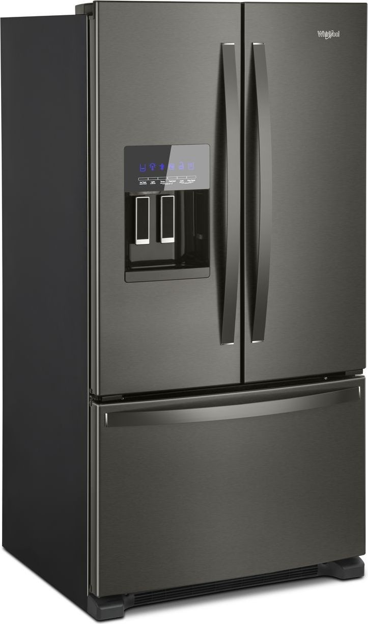 WRF555SDHV Whirlpool 36 247 Cu Ft French Door Refrigerator Black Stainless