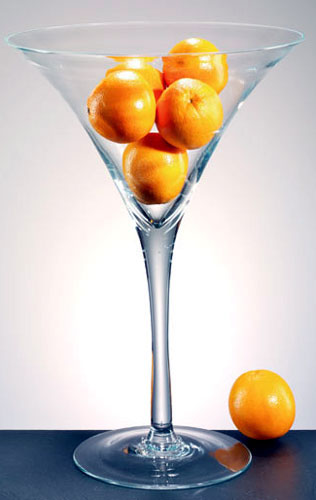 martini vase oranges idea fruit