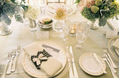 placesetting with napkin rings