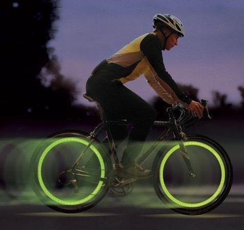 Par de LED Sinalizador para Pneus de Bicicletas e Motos