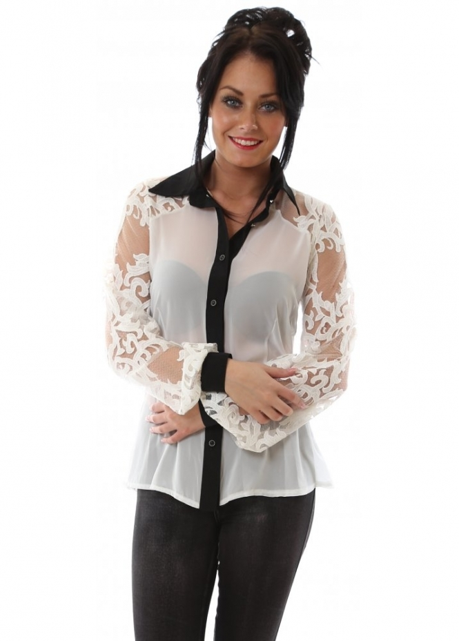 Party 21 Shirt Backless Designer Blouse With Lace Sleeves