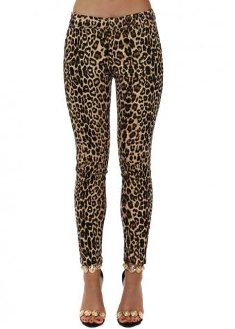 Leopard Print Cigarette Ankle Grazer Trousers